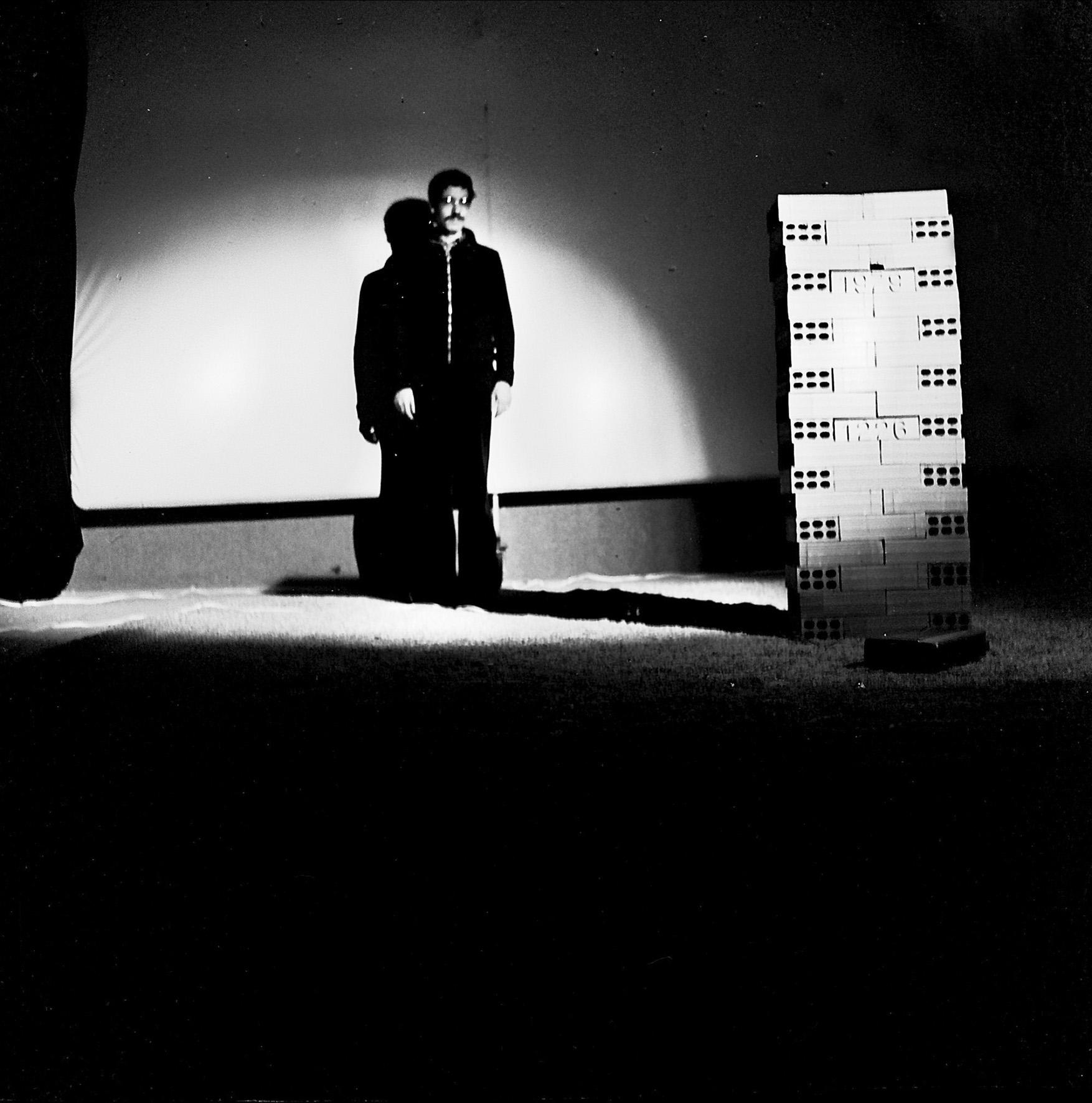 Performance sul tema del Mulino Stucky al Cabaret Voltaire, Torino 1979