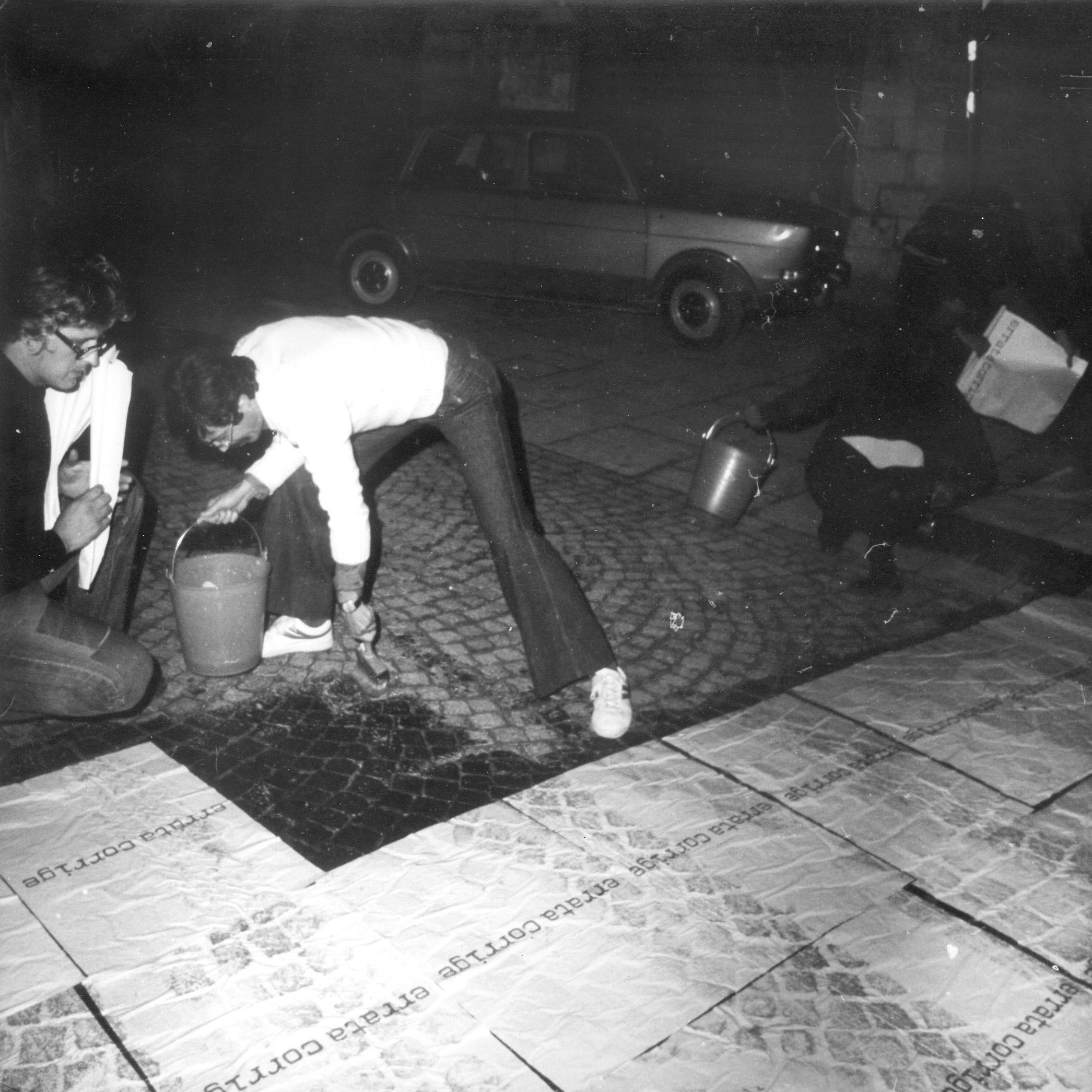 Errata corrige, 1975: Gubbio fase affissione